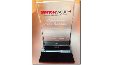 Awarded 2012 breakthrough sales leadership from DENTON VACUUM !