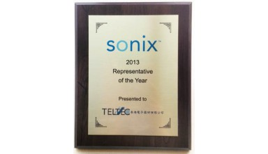 Sonix awarded Teltec Pacific on the 2013 Representative of the Year.