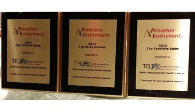 Awarded Outstanding 2013 Top Sales from Princeton Instruments