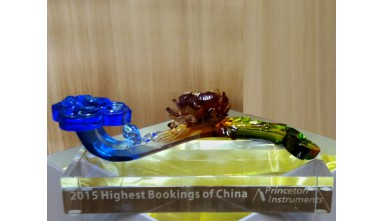 Awarded 2015 Highest Booking of China from Princeton Instruments
