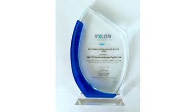 Awarded 2015 Best Sales Achievement from Yxlon