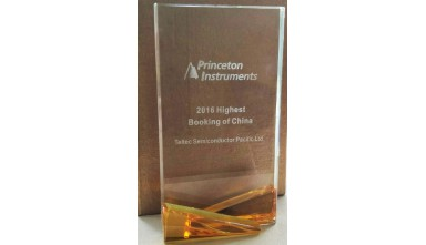 Awarded 2016 Highest Booking of China from Princeton Instruments