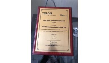 Awarded 2018 Best Sales Achievement from Yxlon