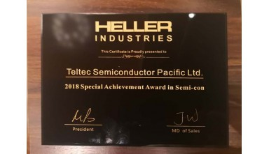Awarded 2018 Special Achievement Award in Semi-con from Heller